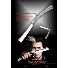 "FROM SWEENEY TODD 10.5"" STRAIGHT RAZOR JOHNNY DEPP TACTICAL FOLDING POCKET KNIFE"